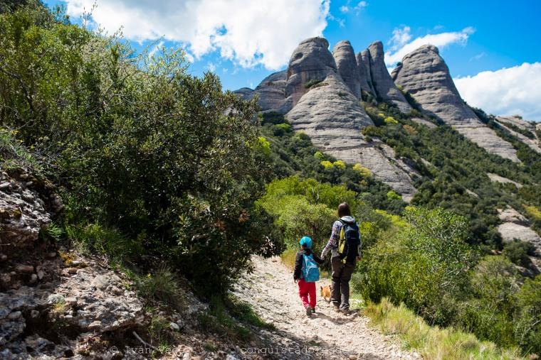 Camí de Sant Joan a Sant Jeroni en el Massís de Montserrat.
